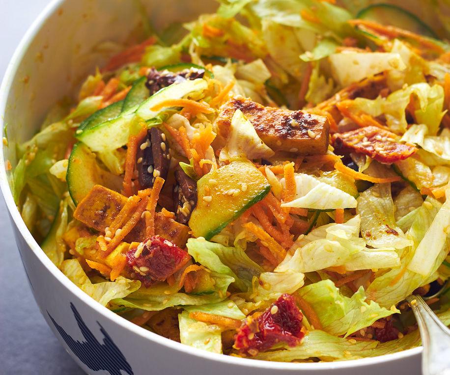 Turmeric Tofu Sesame Salad
