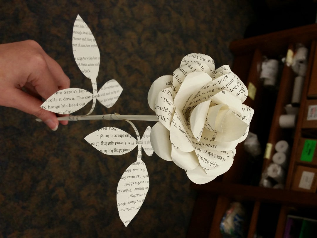 Book page paper rose gift for her paper roses everlasting flowers book page