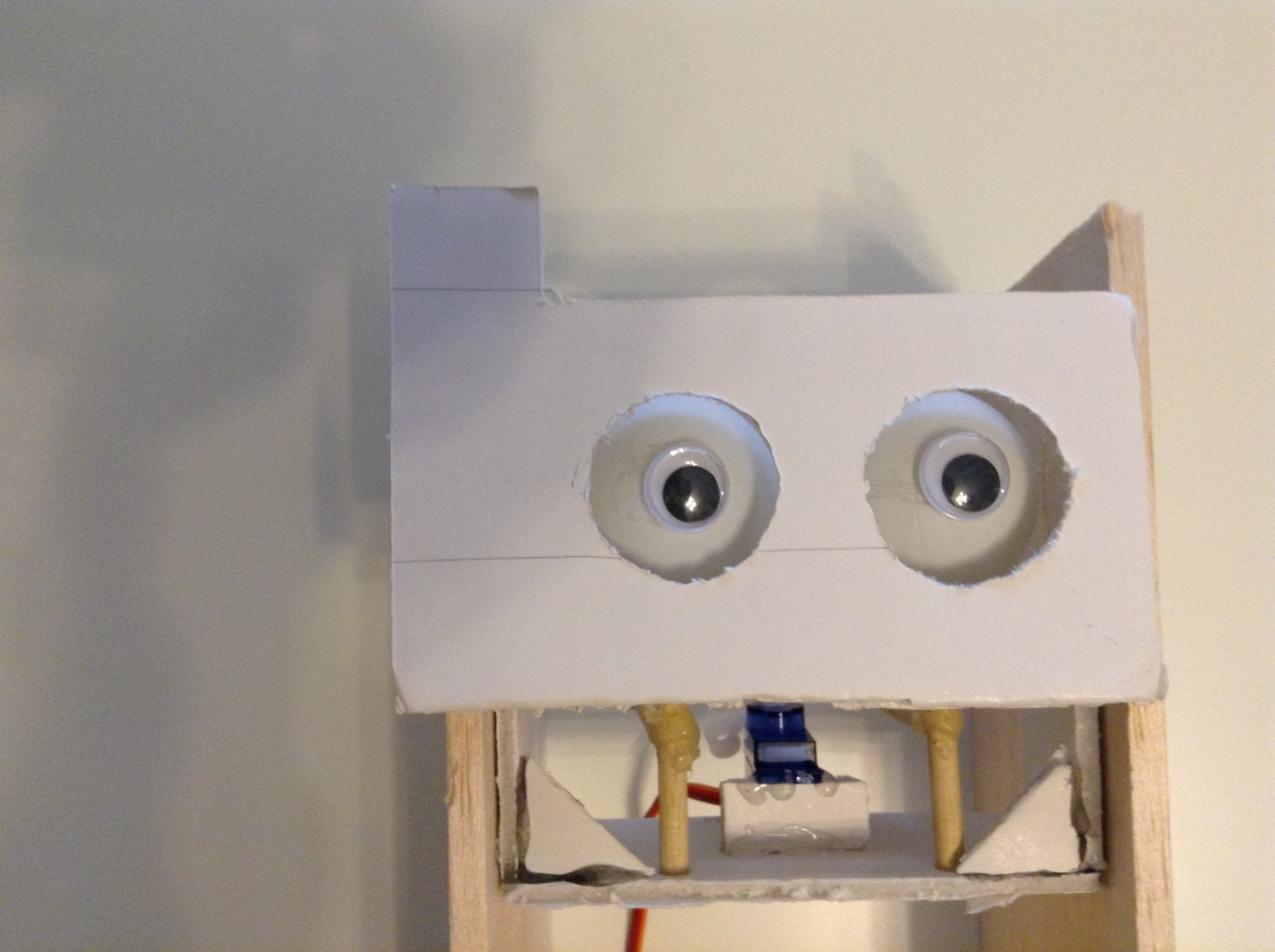 """Making the """"eyes"""". 1st Design Option - Levers"""