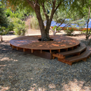 Freestanding Round Deck From Recycled Lumber
