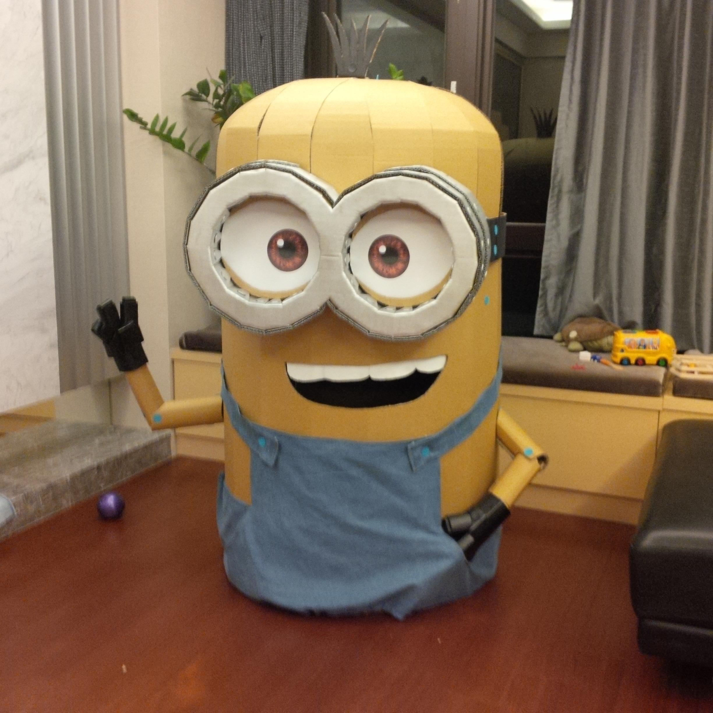 Cardboard Minion Halloween costume