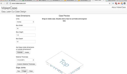 Design Using MakerCase Sketch