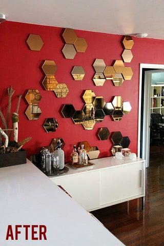 To Ikea S Otherwise Flat Hexagonal, Can You Cut Ikea Mirror Tiles