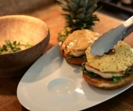How to Make Grilled Chicken and Pineapple Sandwiches