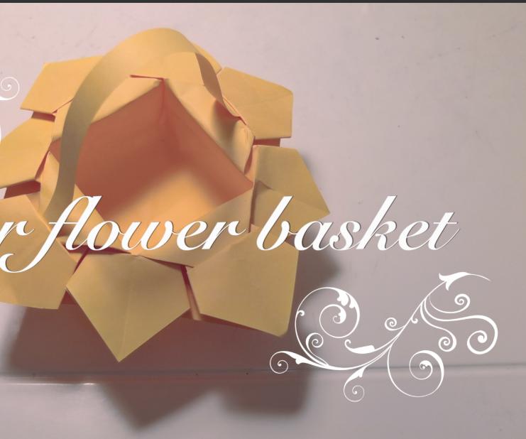 DIY Paper Flower Basket