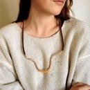 Dip Dye Waxed Thread Necklace
