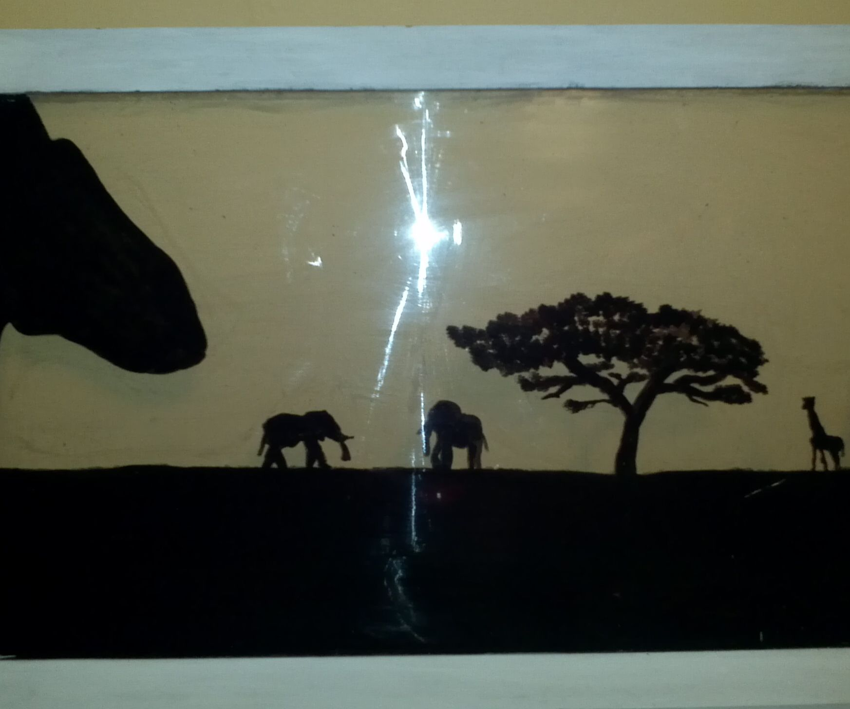Safari Silhouette Window Hanging
