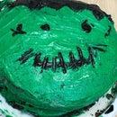 Frankenstein Halloween Cake