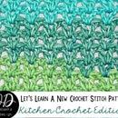 Crochet V-Stitch Dishcloth Tutorial