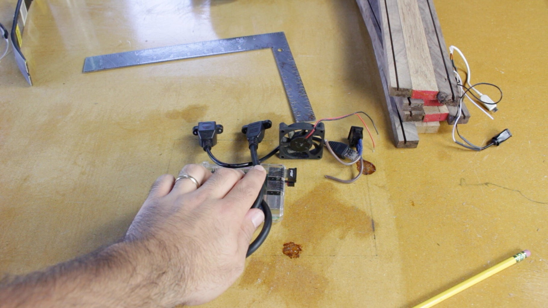 Cutting for the Panel Mount Connectors