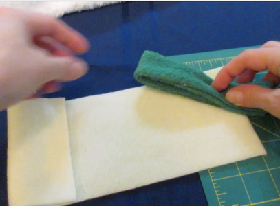 Sew Cuff Pieces Into Loops