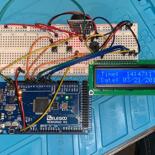 Arduino Clock With DS3231 and LCD1602