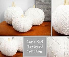 Cable Knit Textured Pumpkins