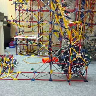 Knex Ball Machine Element: Falling Bridge
