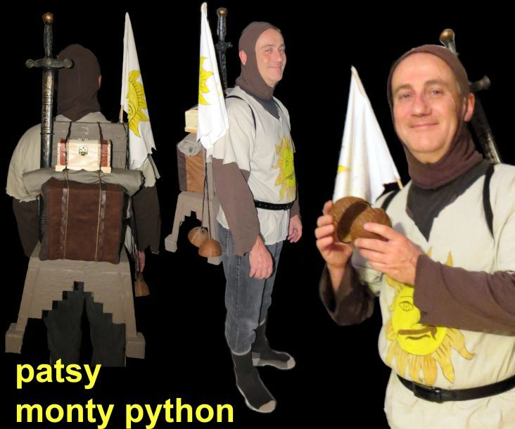 Holy Grail Coconut guy Patsy costume