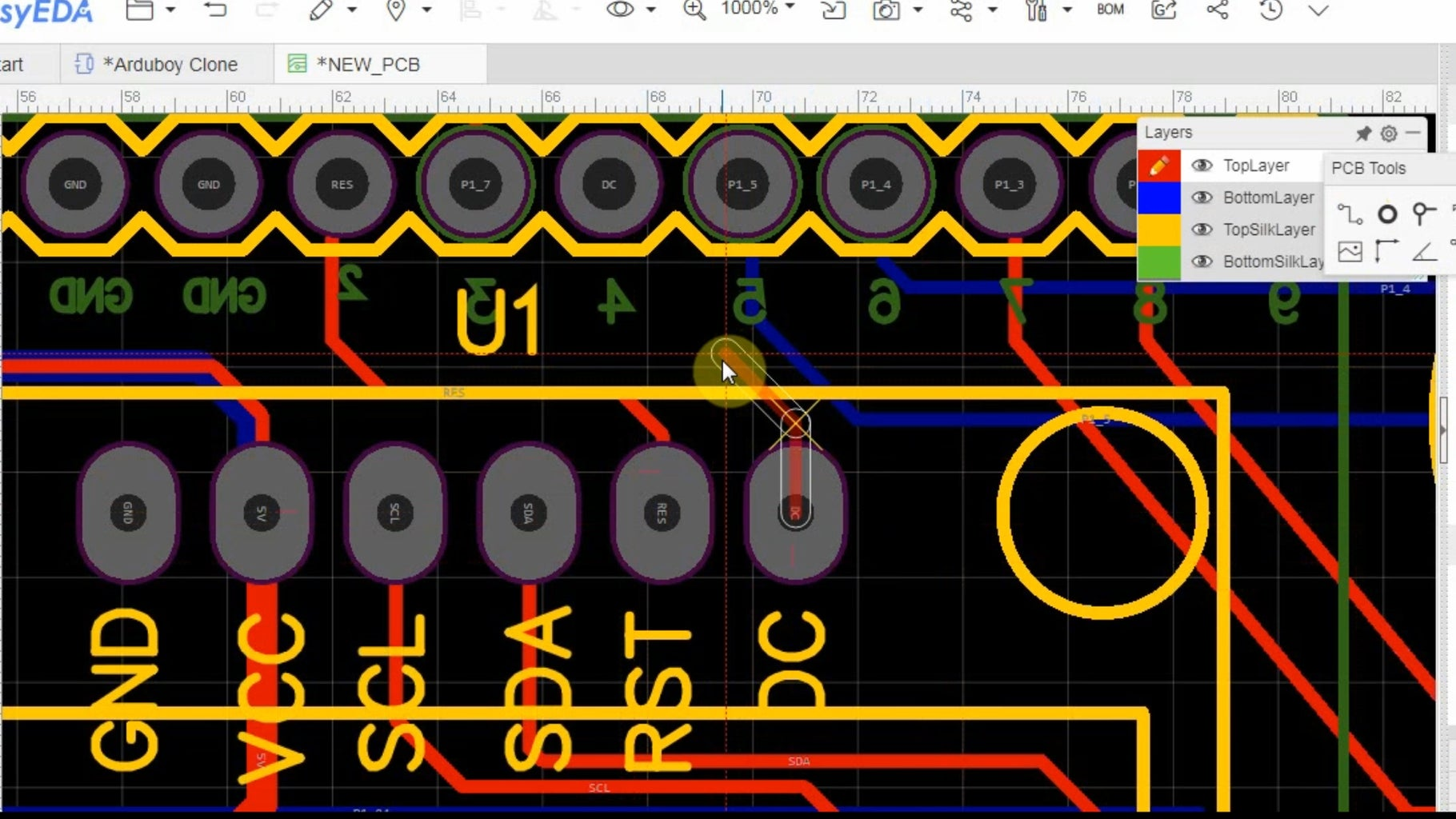 Designing PCB in EasyEDA