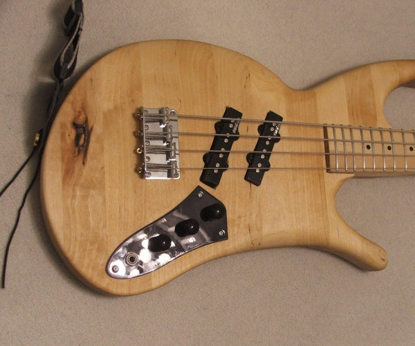3 Guitars Made From a Table. #3 the Jazz Bass