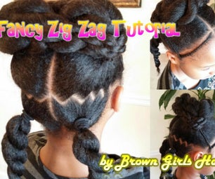 Cute Zig Zag Hairstyle for Girls