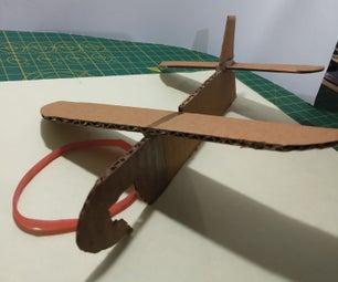 [DIY] Rubber Band Powered Cardboard Plane