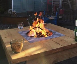 Outdoor Coffee Table With Fire Pit