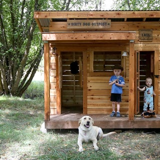 Build a Western Saloon Kid's Fort With Standard Fence Boards