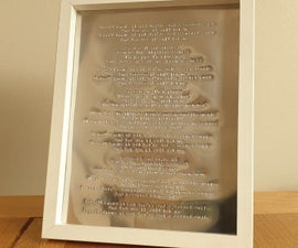 Handstamped Song Lyrics