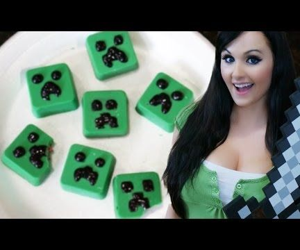 Exploding Minecraft Creeper Candy