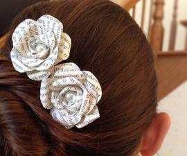 Paper Flower Hairpins