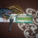 Measure the temperature and show it on a LCD display