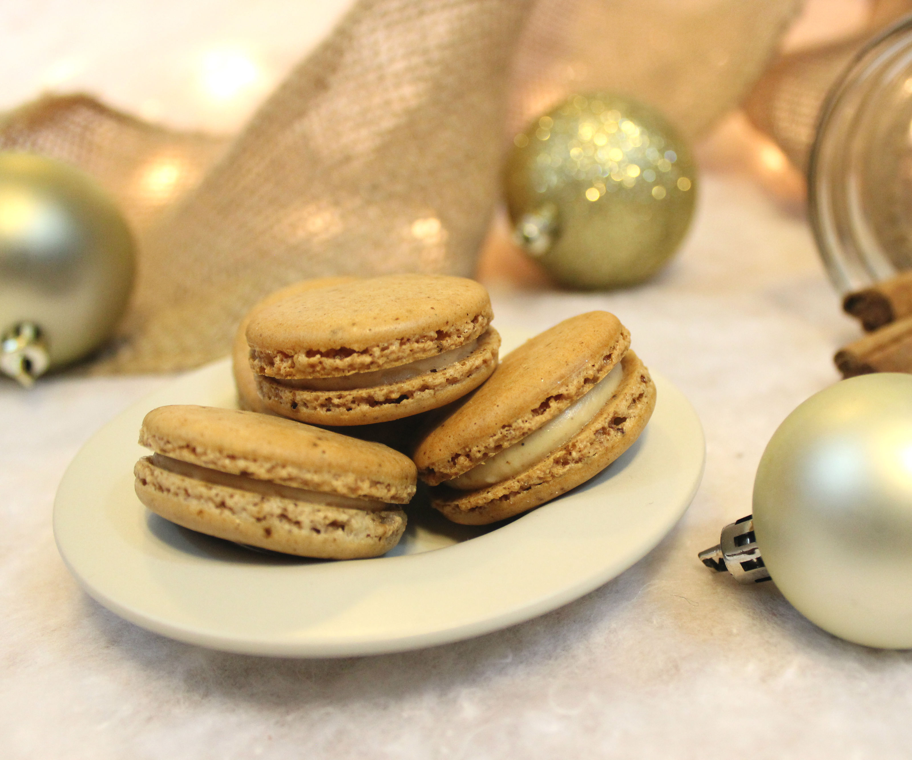 Gingerbread Latte Macarons | Josh Pan