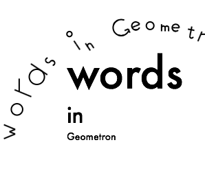 Using Words in Geometron