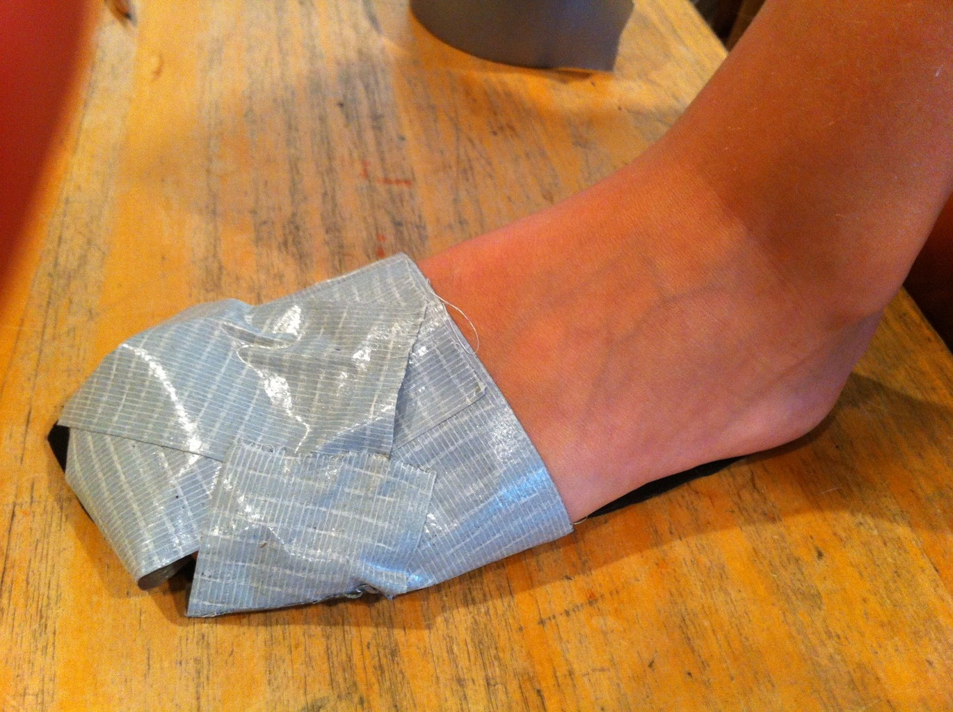Top of the Duck Tape Shoe... Continued