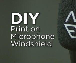 Print on Foam Microphone Windshield