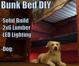 Wooden Bunk Bed With 2x6 Lumber