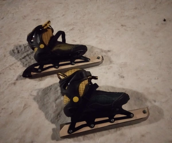 DIY Ice Skates From Inline Skates