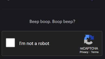 Verify Your Not a Robot!