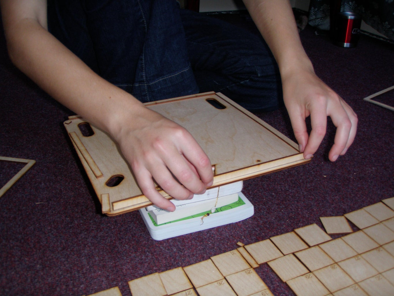 Preparing Parts and Glueing Walls