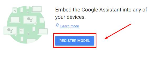 Actions on Google - Register Model: