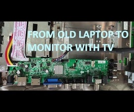 From Old Laptop to External Monitor With Digital TV