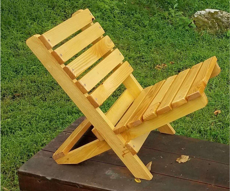 The Becket Chair: Folding Wood Beach Chair Under $6 in Under an Half Hour*