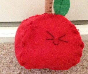 Kawaii Felt Apple Plushies