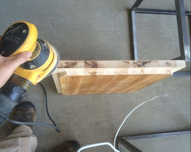 Table Top - Sanding Surface and Beveling Edges