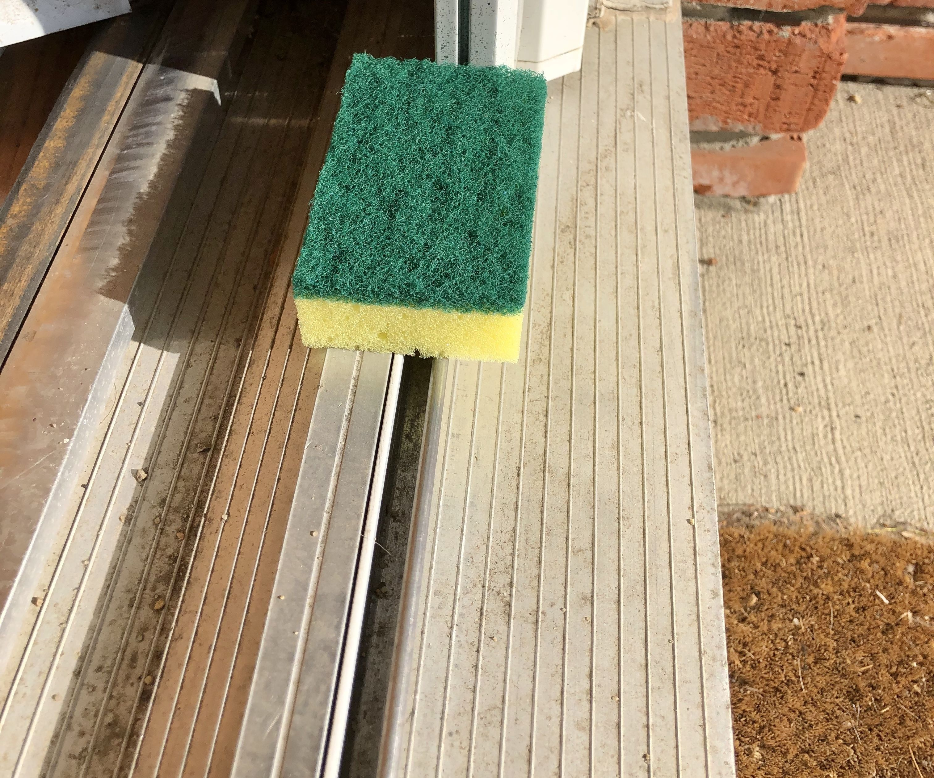 Hack for Cleaning Inside Sliding Window and Door Tracks