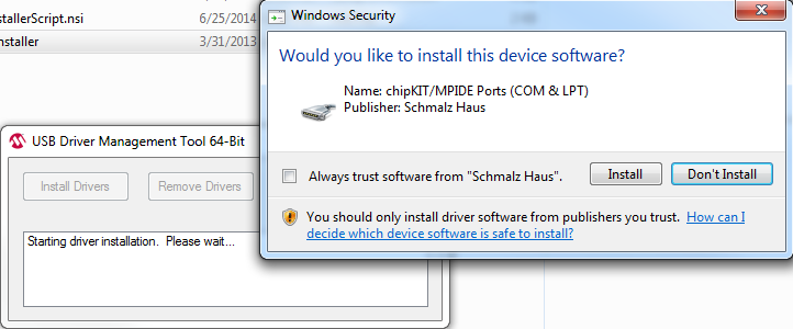 Installing the Drivers (Windows Only)