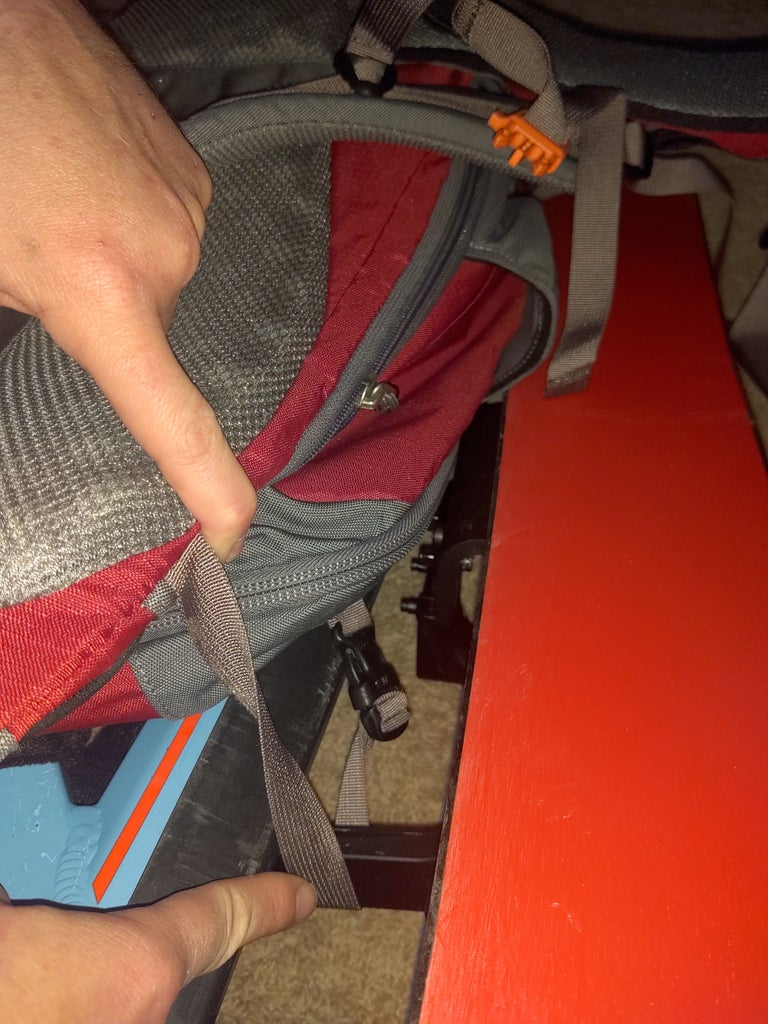 Mods for Ski Carry Backpack
