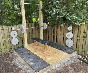 Outdoor Weightlifting Platform