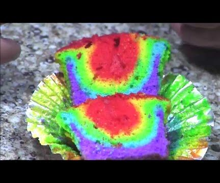 How to Make Rainbow Cakes and Cupcakes