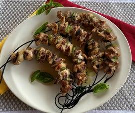 Korean BBQ Chicken Kabobs