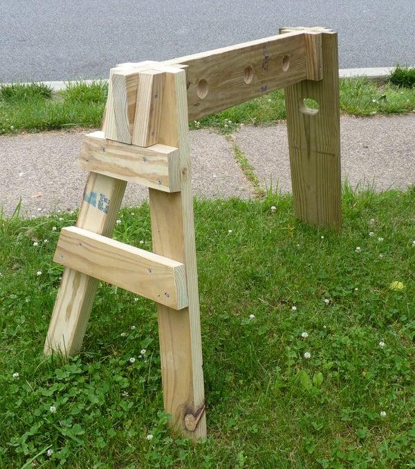 Three-Legged Knock-Down Sawhorse