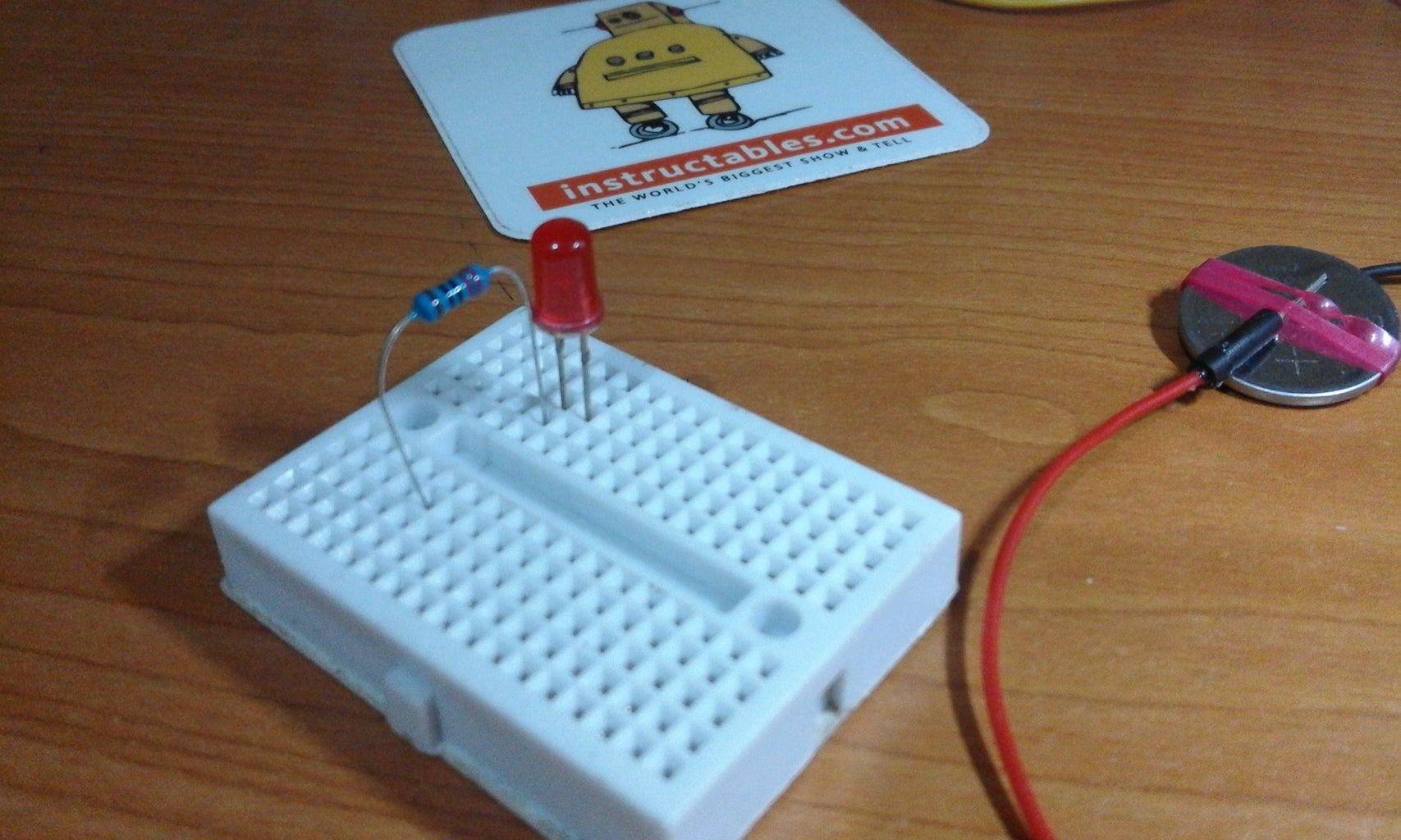 LED and Resistor for Testing
